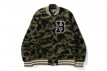 1ST CAMO SWEAT VARSITY JACKET