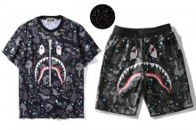 SPACE CAMO SHARK TEES SHORTS PIECE SET