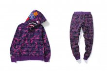 COLOR CAMO HOODIES PANTS PIECE SET