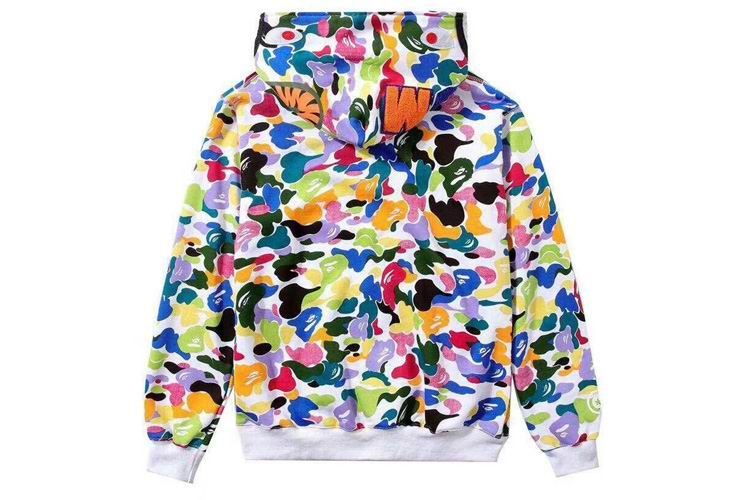 MULTI CAMO FULL ZIP SHARK HOODIE